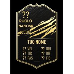 FIFA FUT 21 Card TOTW personalizzata