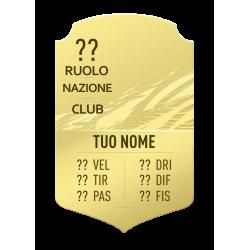 FIFA FUT 21 Card Gold personalizzata