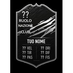 FIFA FUT 21 Card TOTW Silver personalizzata