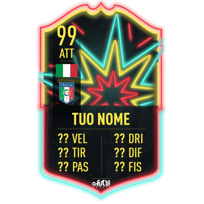 FIFA 20 Ones to Watch card personalizzata