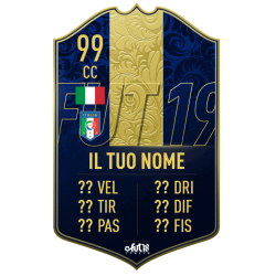 FIFA 19 Team of the Year card personalizzata