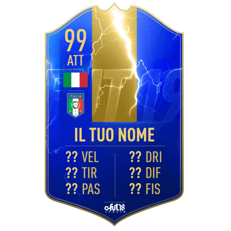 FIFA 19 Team of the Season card personalizzata