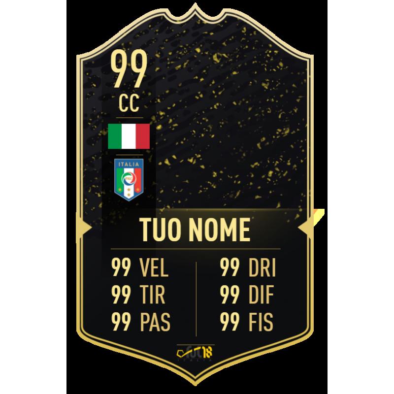FUT 20 Gold IF card personalizzata