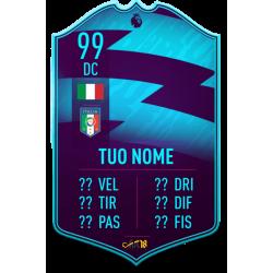 FIFA FUT 20 card POTM Premier League personalizzata