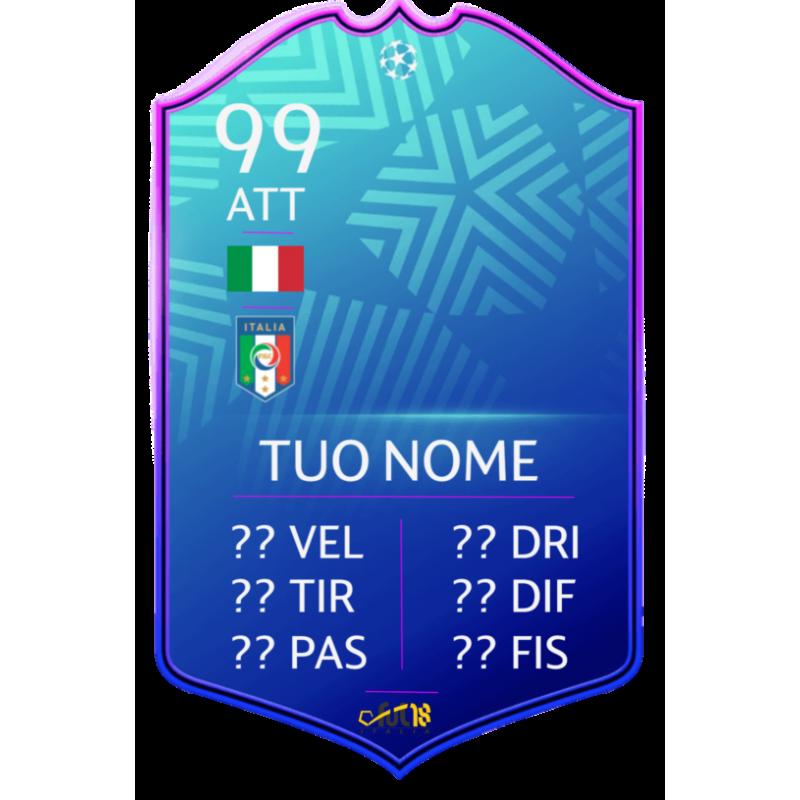 FIFA FUT 20 card UCL SBC personalizzata