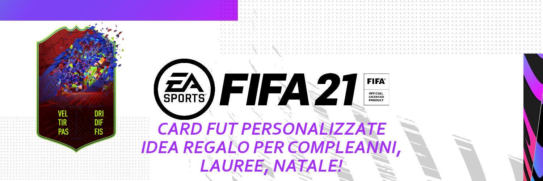 FIFA FUT 21 card personalizzate - idea regalo