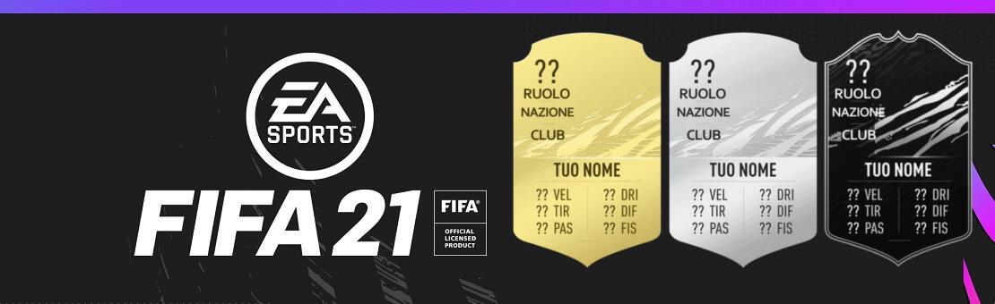 FIFA FUT 21 card personalizzate
