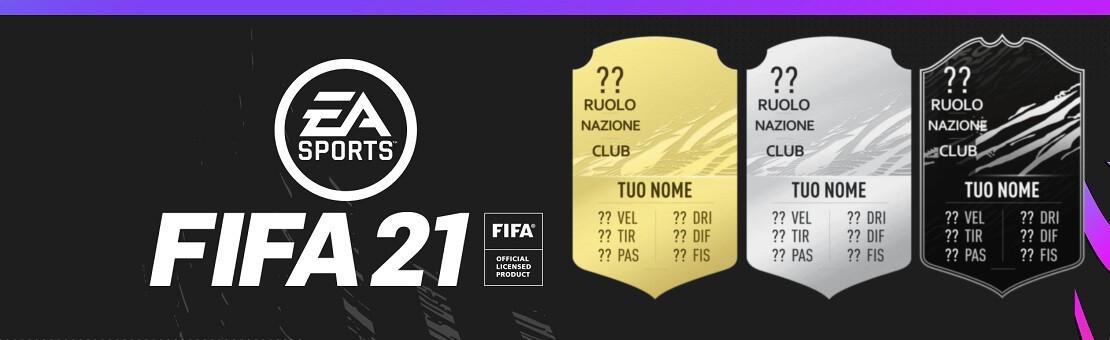 FIFA FUT 21 card personalizzate - Stampa per idea regalo