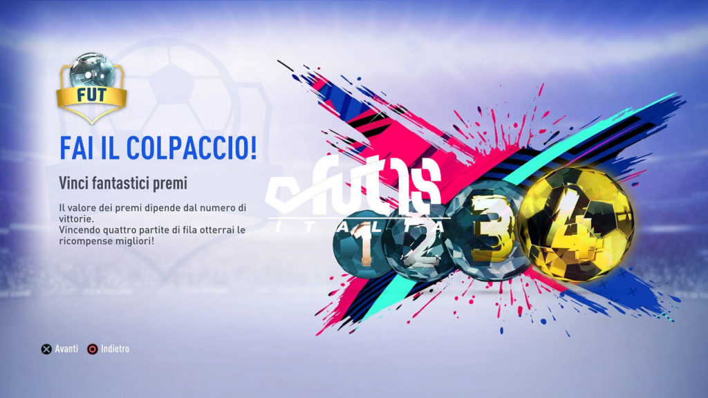 FIFA 19 - FUT Draft menù 1