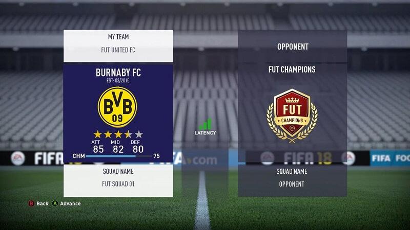 Visualizzazione dell'avversario nella Weekend League della FUT Champions