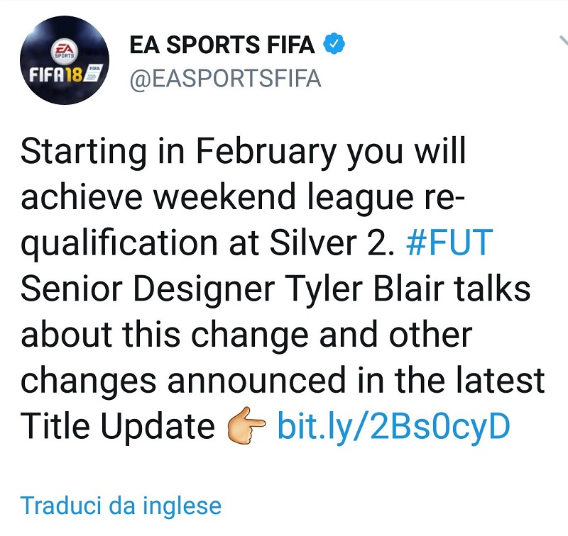 FUT Champions Weekend League, da ora accesso al raggiungimento del livello Argento 2