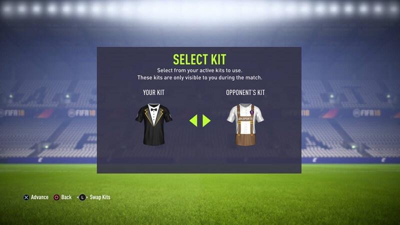 Selezione del kit delle divise in matchmaking nella Weekend League della FUT Champions