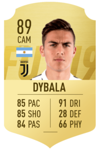 Paulo Dybala 89 in FIFA 19 Ultimate Team