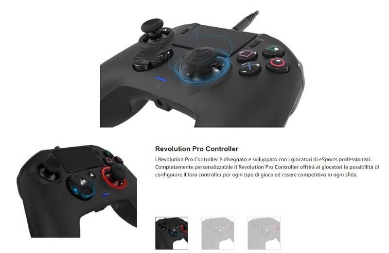 Caratteristiche che rendono unico il Nacon PRO revolution, controller per PS4