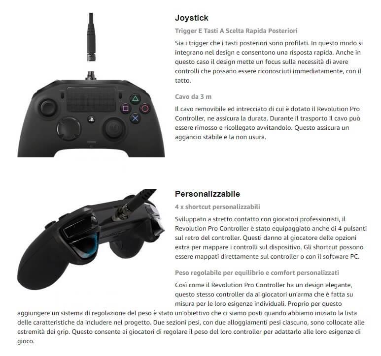 Personalizzazione del joypad Nacon revolution PRO, controller da PRO gamer
