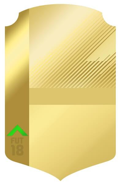 L'aspetto di una carta oro upgradata con la freccia verde verso l'alto