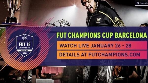 FIFA 18 FUT Champions Cup a Barcellona dal 26 al 28 gennaio