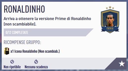 Soluzione alla SBC di Ronaldinho 94 Icona PRIME. Sfida Creazione Rosa completa