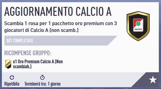 SBC aggiornamento Calcio A disponibile con gli winter upgrades
