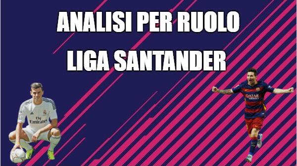Analisi per ruolo dei calciatori del campionato spagnolo, la Liga Santander