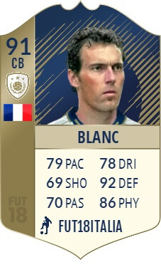 Laurent Blanc icona Prime SBC, disponibile
