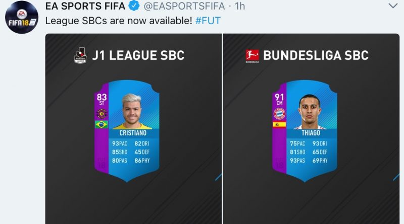 Disponibili le squad build challenge della Bundesliga e della J League