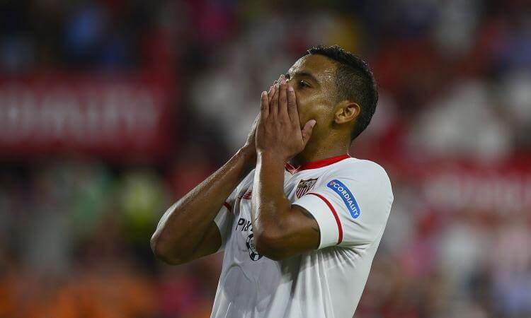 Luis Muriel trasferitosi dalla Sampdoria al Siviglia in estate