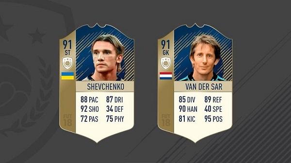 Shevchenko e Van Der Sar, SCR delle carte Icone Prime disponibili su Ultimate Team