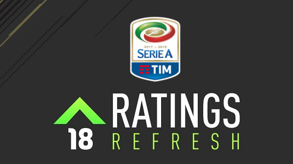 Winter upgrades (rating refresh) per il campionato di Serie A in FIFA 18
