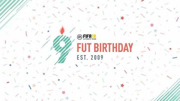 9° FUT Birthday - Il compleanno di FIFA 18 Ultimate Team a partire dalle 19 italiane del 16 marzo