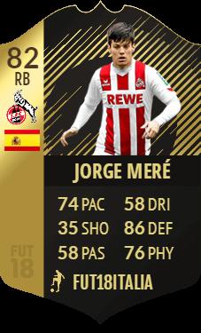 Jorge Mere IF, overall 83 per il terzino spagnolo