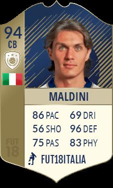 Paolo Maldini 94, la versione PRIME del DC più forte di FIFA 18