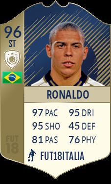 Ronaldo 96, la versione PRIME dell'icona più attesa di FIFA 18