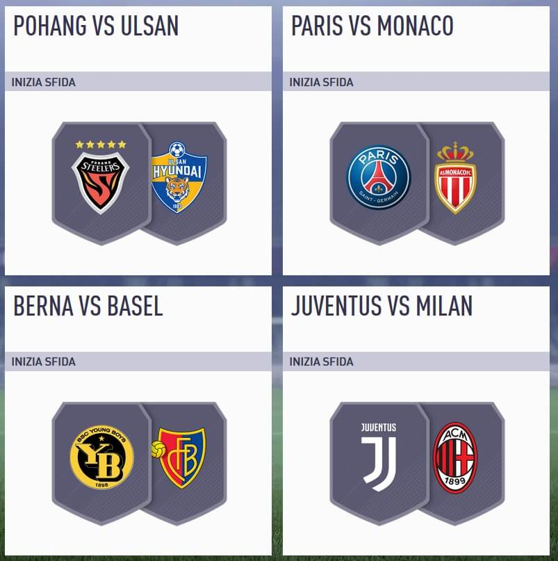 Le partite selezionate per la sfida di martedì 27 marzo