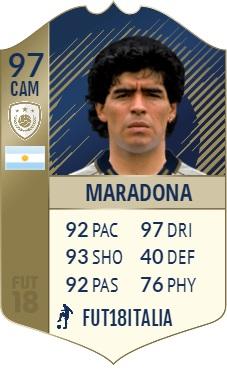 Diego Maradona, icona Prime, overall 97
