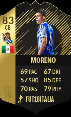 Moreno IF 83, TOTW 25