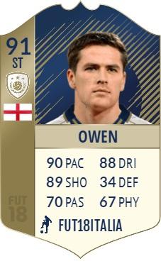 Michael Owen, icona Prime con overall 91