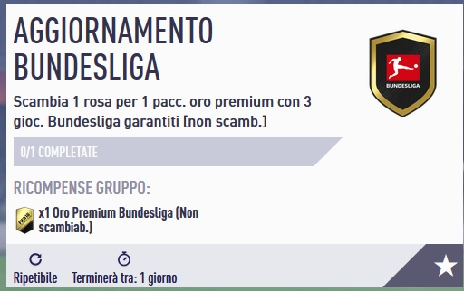 SBC aggiornamento Bundesliga