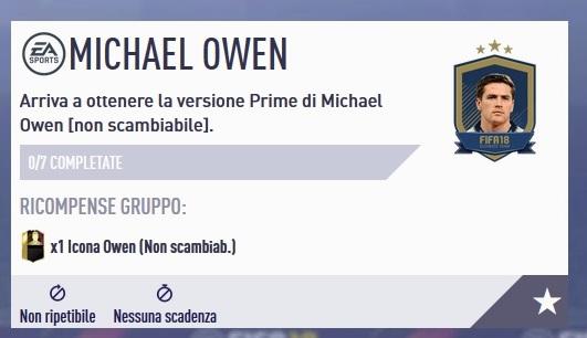 SBC di Michael Owen Icon Prime disponibile, ecco le soluzioni