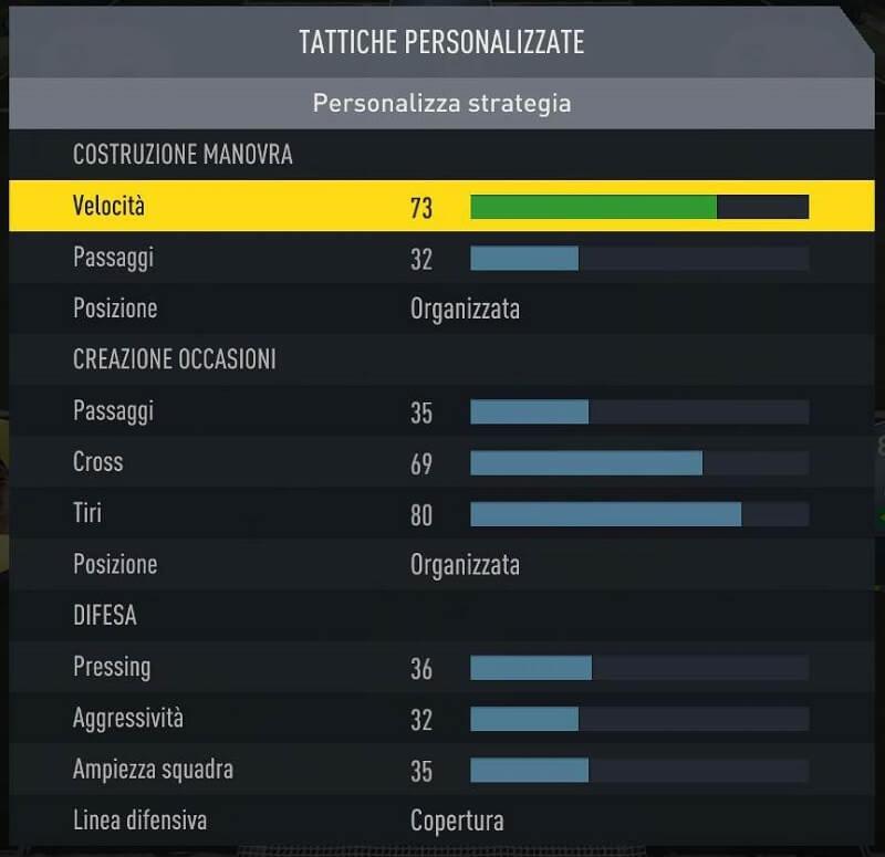 Tattiche personalizzate su FIFA 18 Ultimate Team, come impostarle