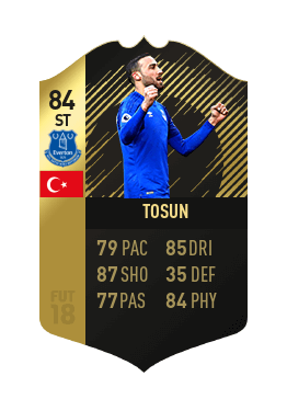Tosun IF 84 dell'Everton su FIFA 18