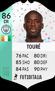 La carta di Yaya Toure della SBC Premium del compleanno di FIFA 18 Ultimate Team