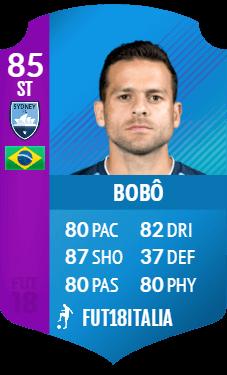 Bobo SBC premium del campionato australiano A-League, overall 85