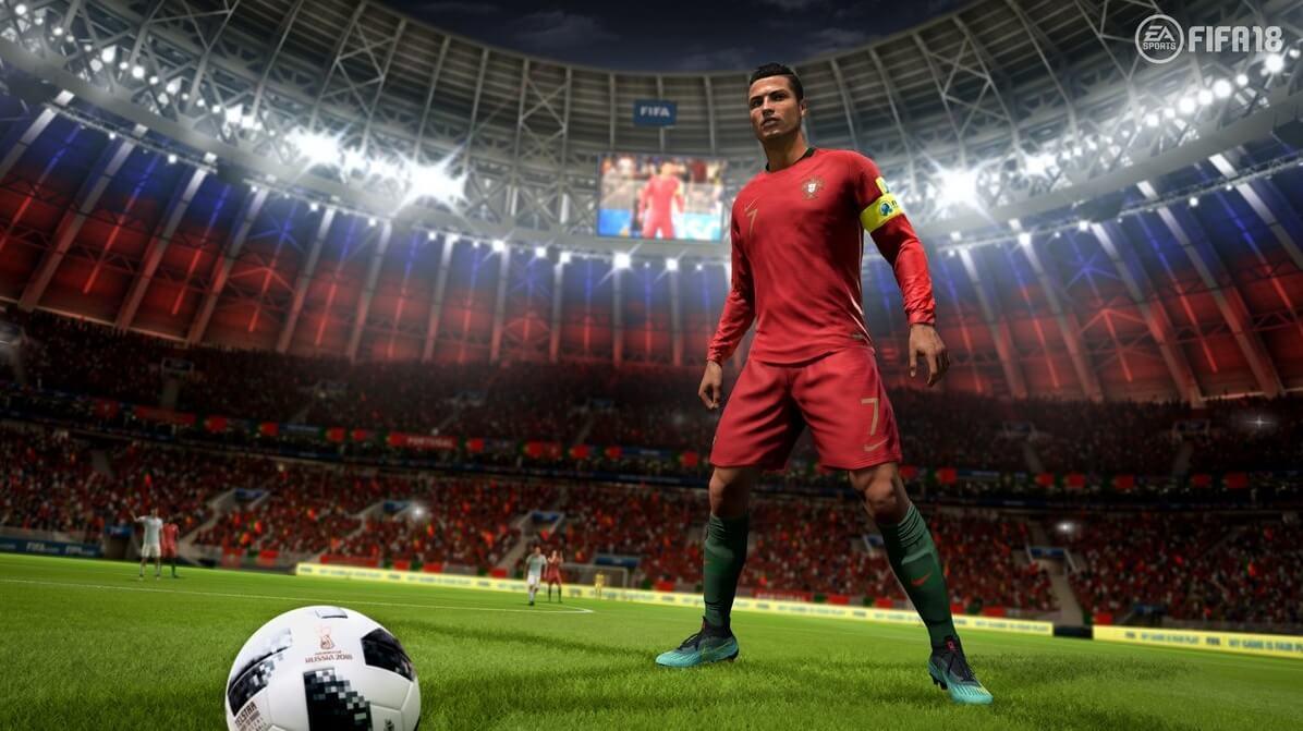 CR7 alle prese con un calcio di punizione con il suo Portogallo