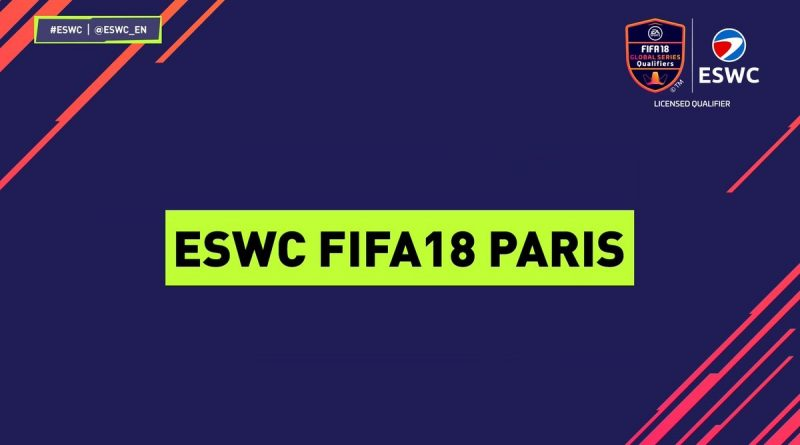 Torneo ESWC di FIFA 18, 7 e 8 aprile a Parigi