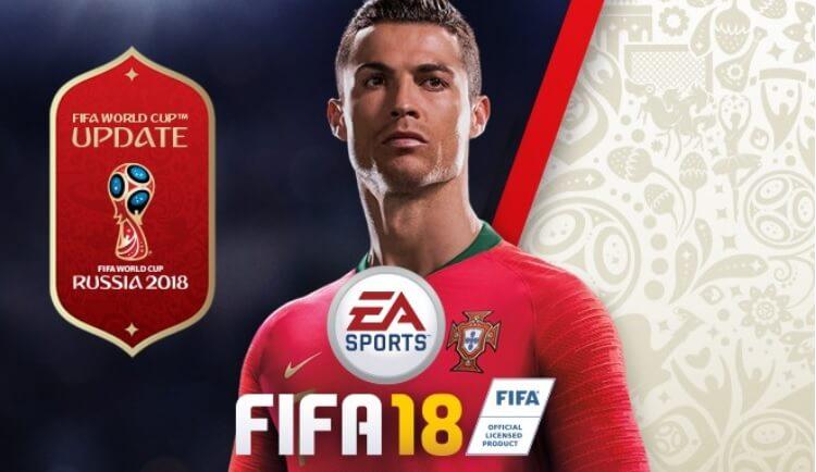 Copertina ufficiale del DLC gratuito dei Mondiali di Russia 2018 per FIFA di EA Sports
