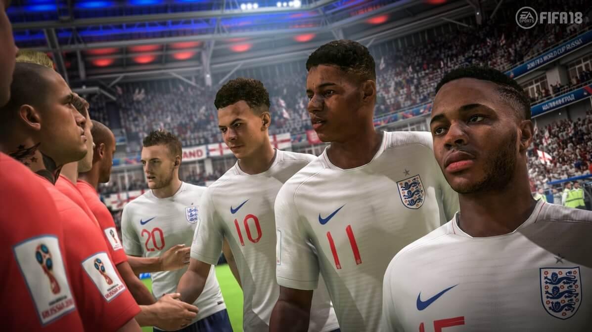 Belgio ed Inghilterra in FIFA 18, DLC dedicato alla World Cup di Russia