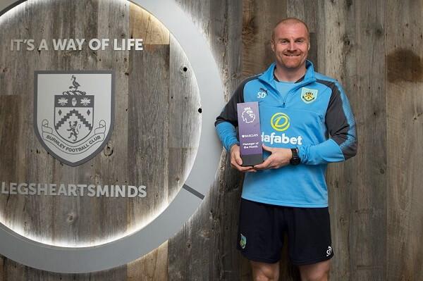 Dyche allenatore del Burnley vince il premio di Allenatore del mese di marzo