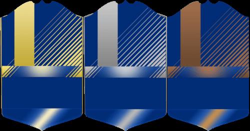 La grafica delle carte TOTS, oro, argento o bronzo