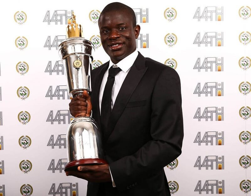 Kante, vincitore con il Chelsea del premio di PFA Player of the Year